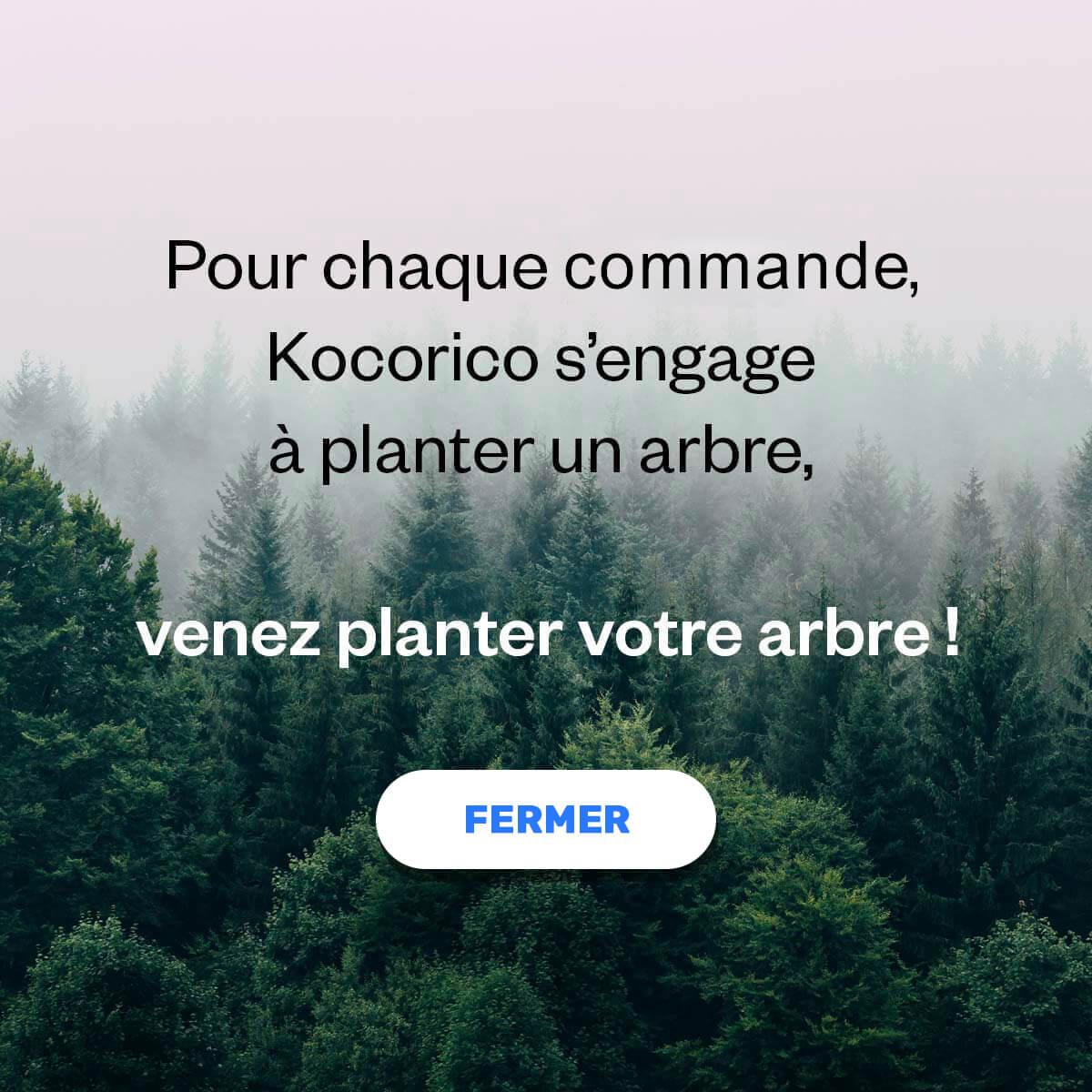 Pour chaque commande, Kocorico s'engage à planter un arbre